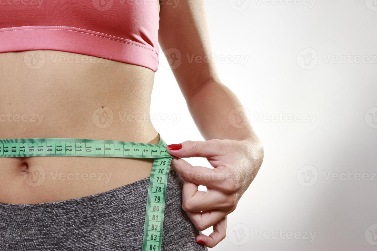 abdomen con cinta foto