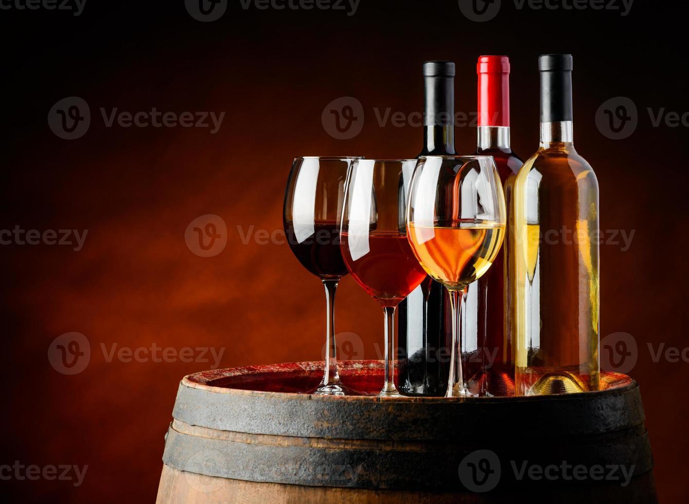 wine in wine cellar photo