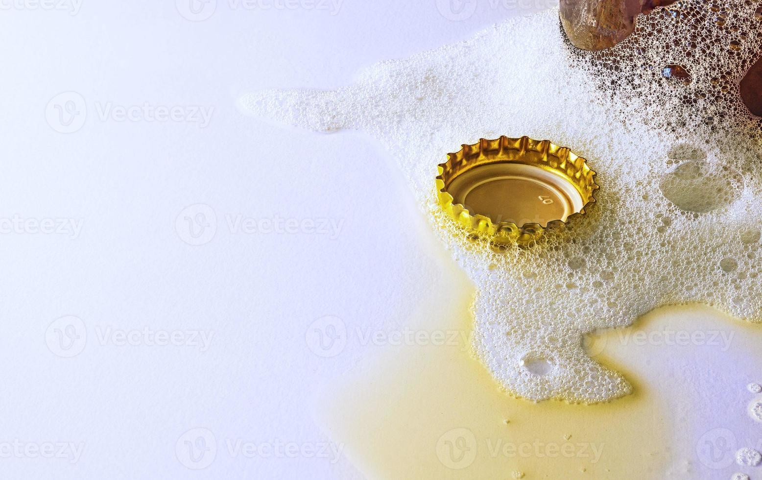 Cork in beer foam photo