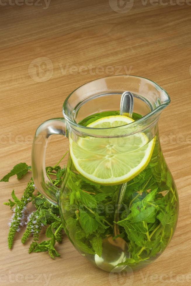 Fresh homemade mint tea. photo