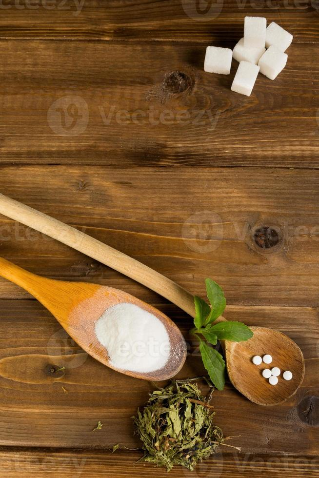 Stevia on a table photo