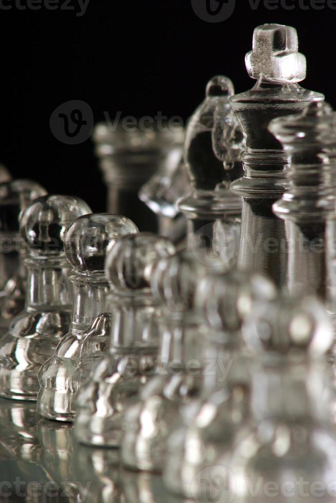 piezas de ajedrez abstractas foto