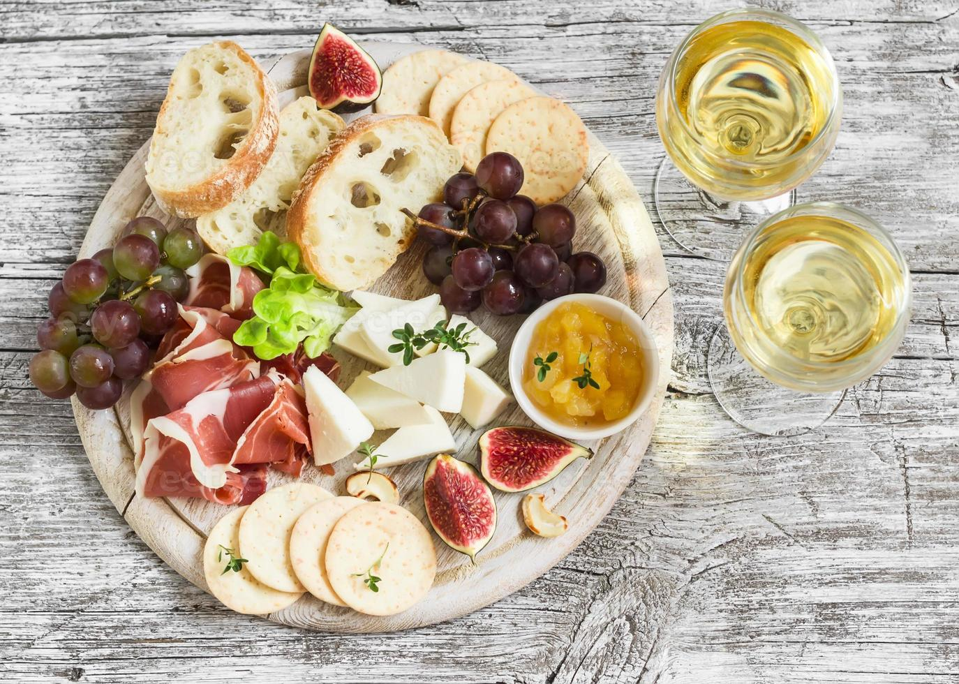 delicious appetizer to wine photo