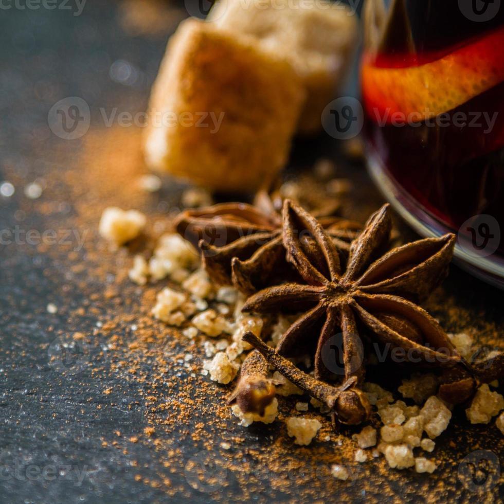 Mulled wine ingredients photo