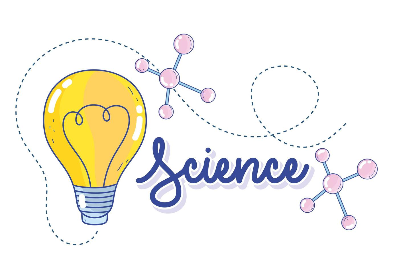 plantilla de banner de ciencia innovadora vector