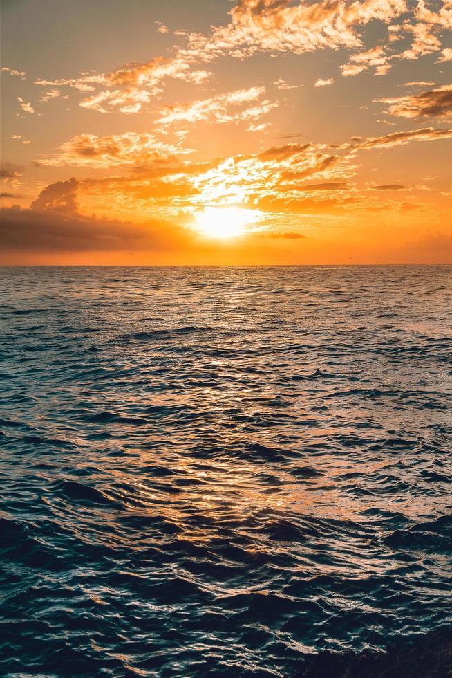 Sunset at the sea photo