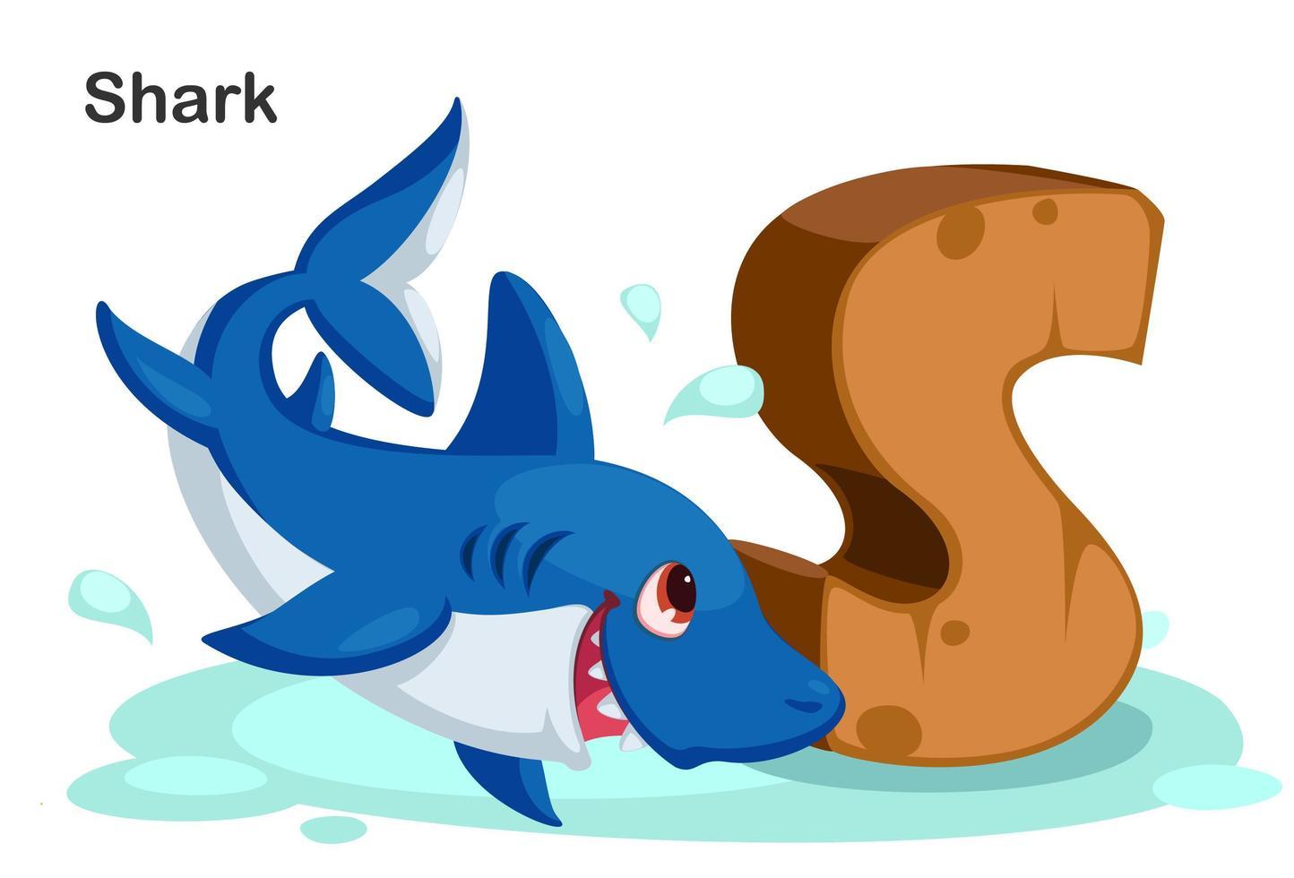 s para tubarão vetor