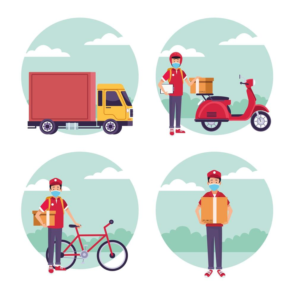 Set of delivery services  vector