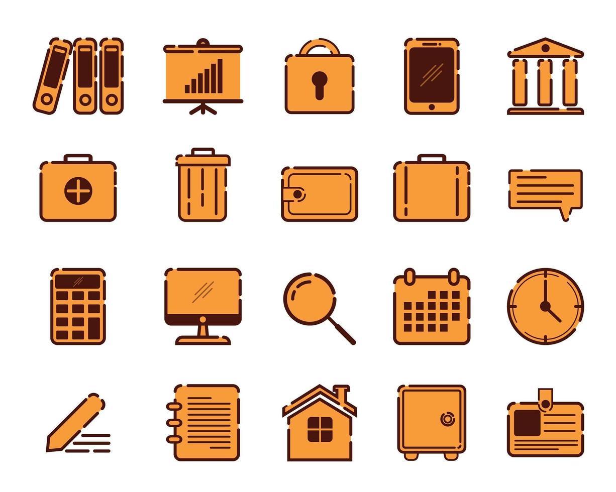 colección única de iconos de negocios vector