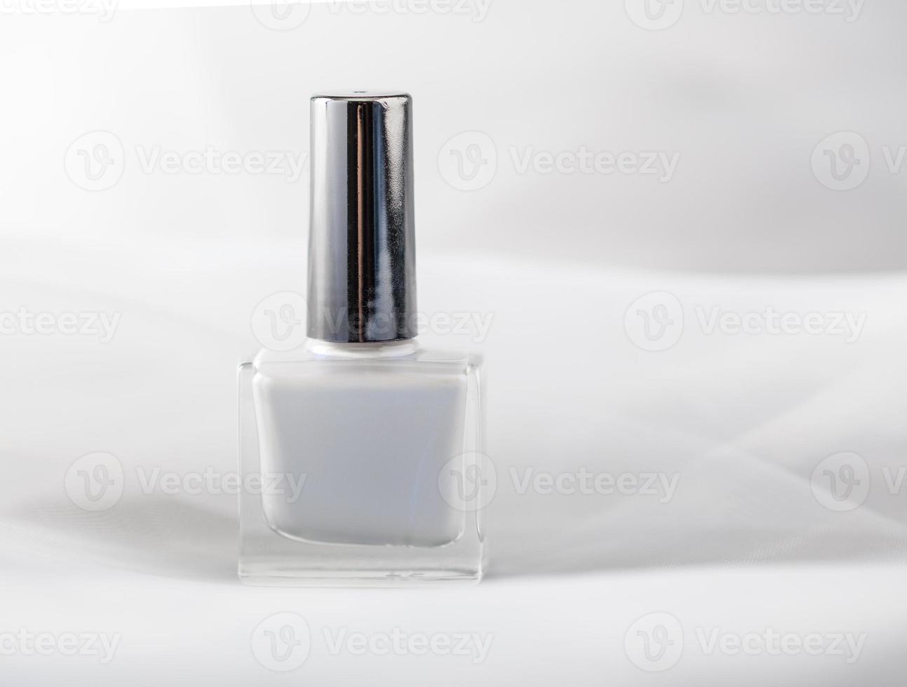 White nail polish photo