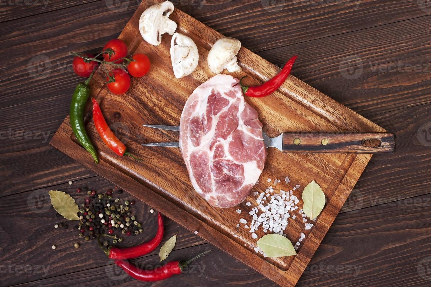 Raw fresh meat photo