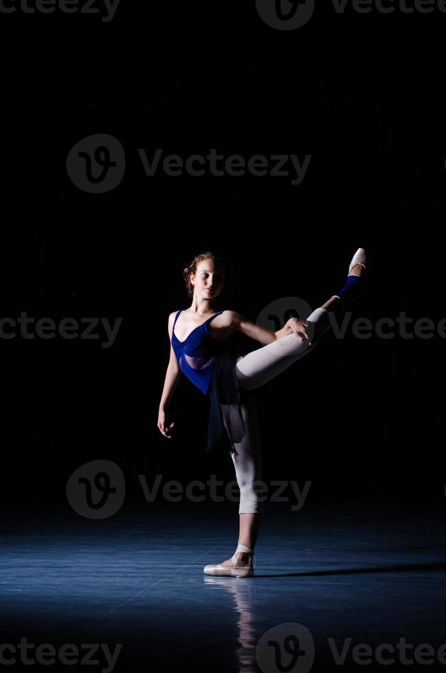 ballet dancer training performing photo