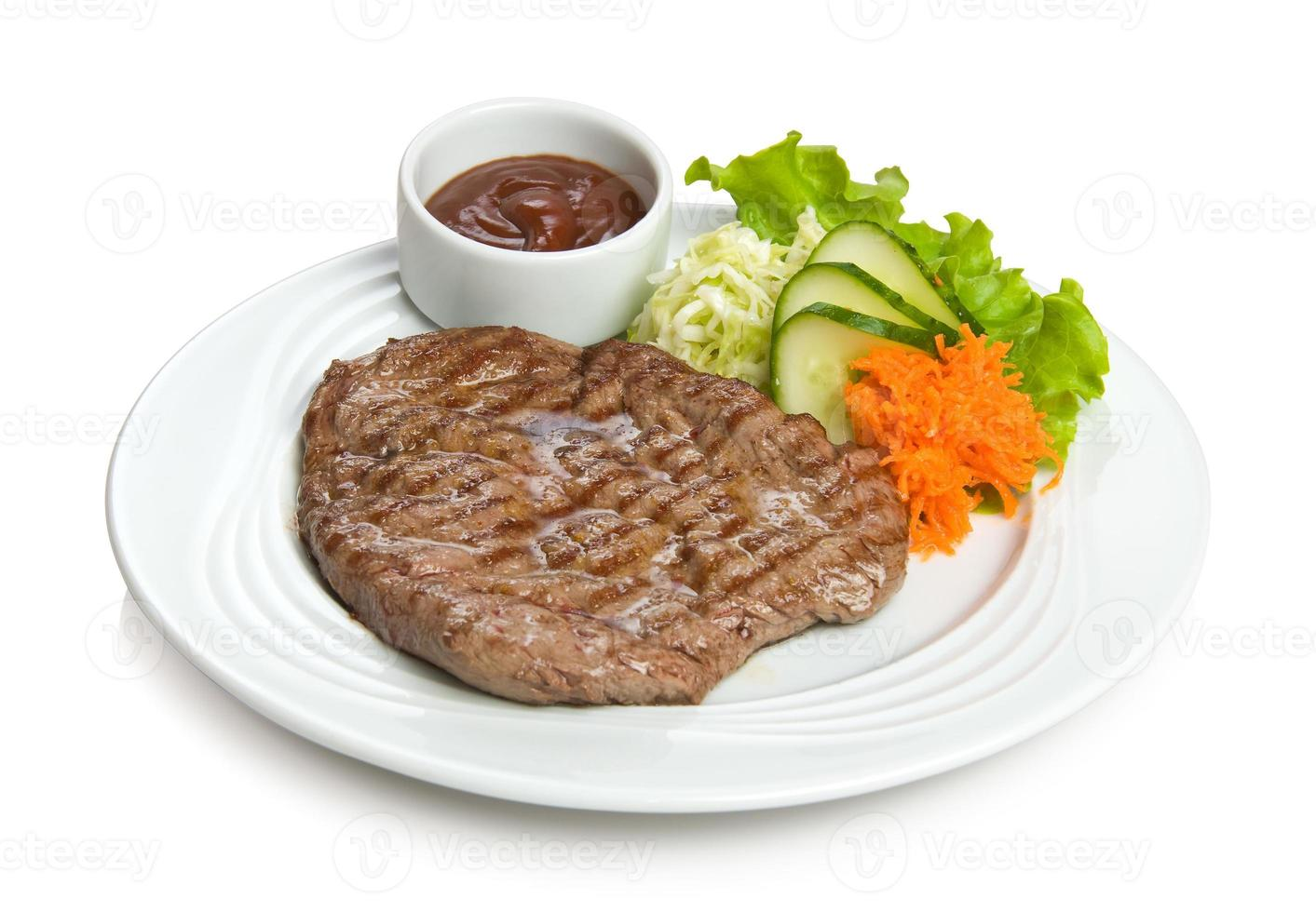 Well-done juicy steak photo