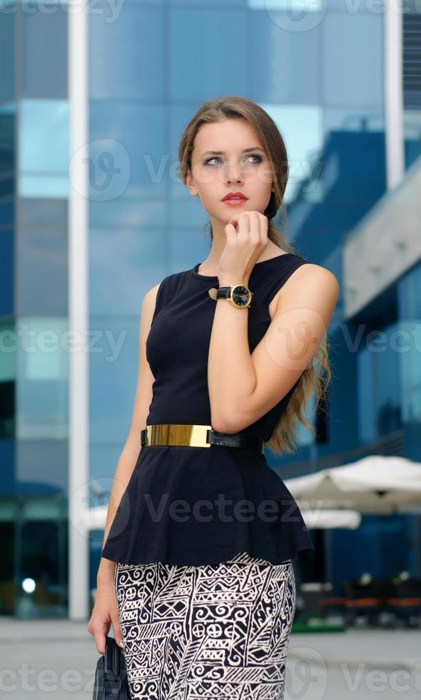 Business woman in formal clothes photo