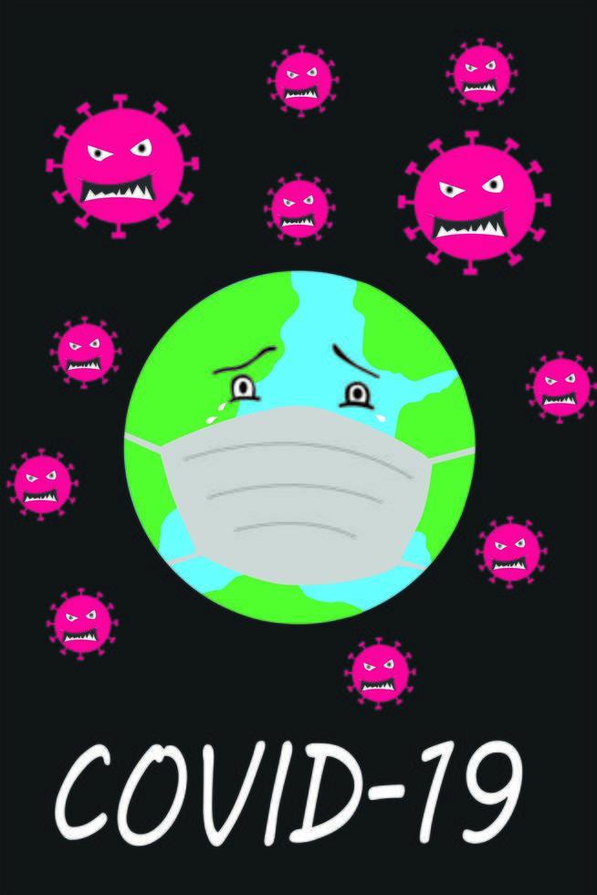 pôster de conscientização do vírus corona vetor