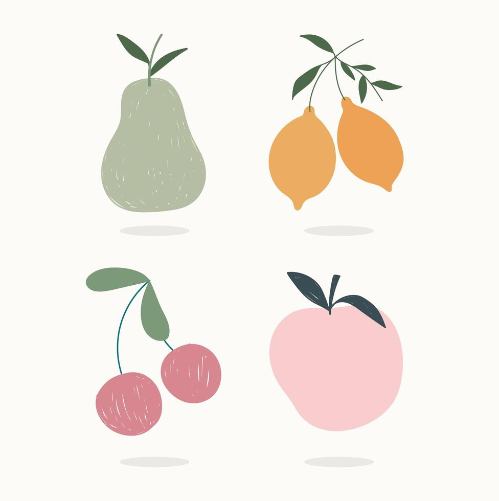 Hand Drawn Contemporary Fruits Icon Set Download Free Vectors Clipart Graphics Vector Art