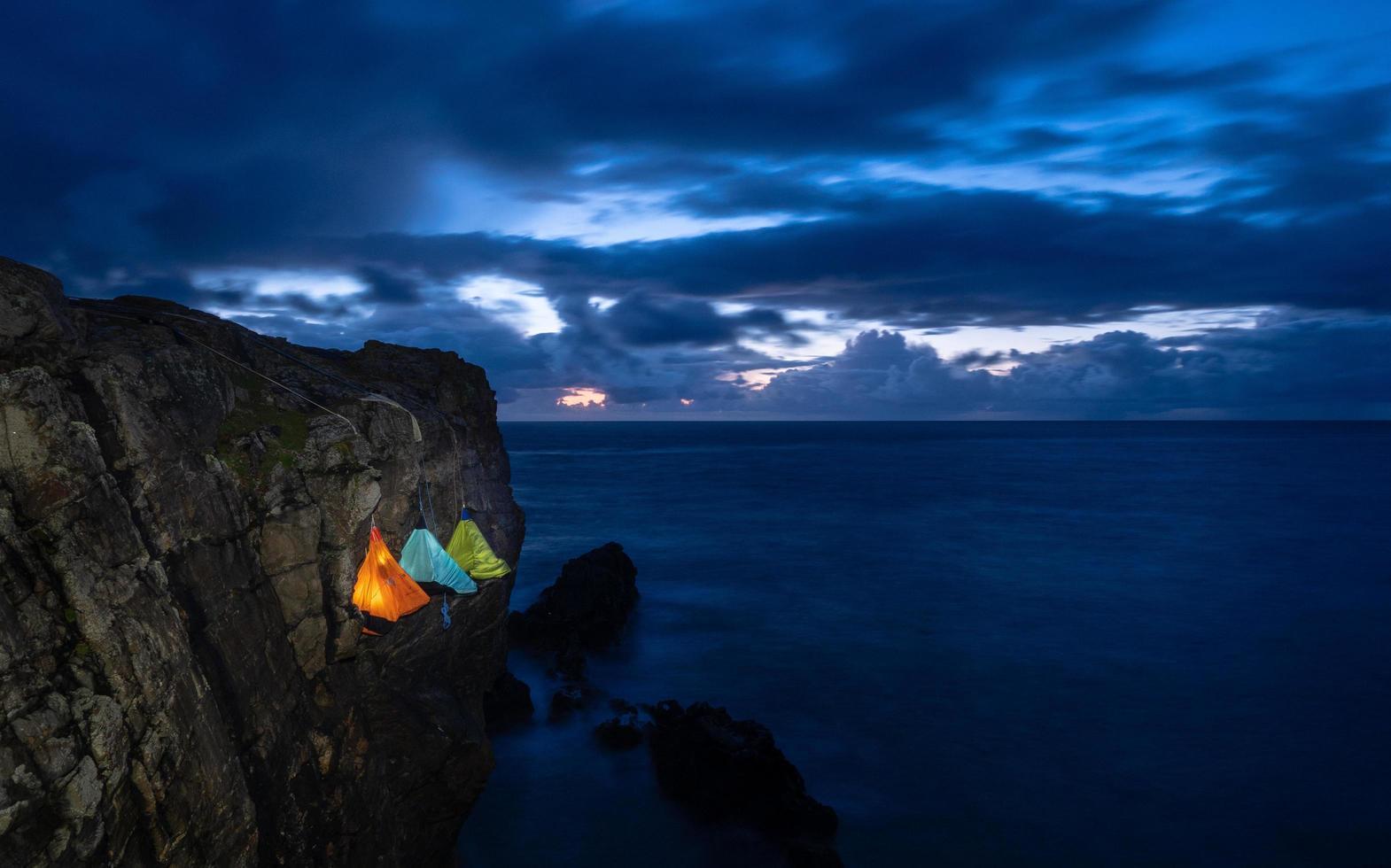 Cliff on the coast  photo