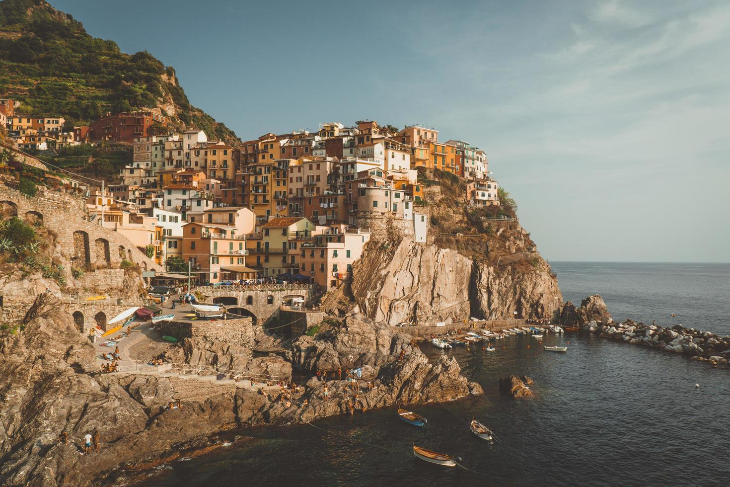 Coastal mountain scene photo