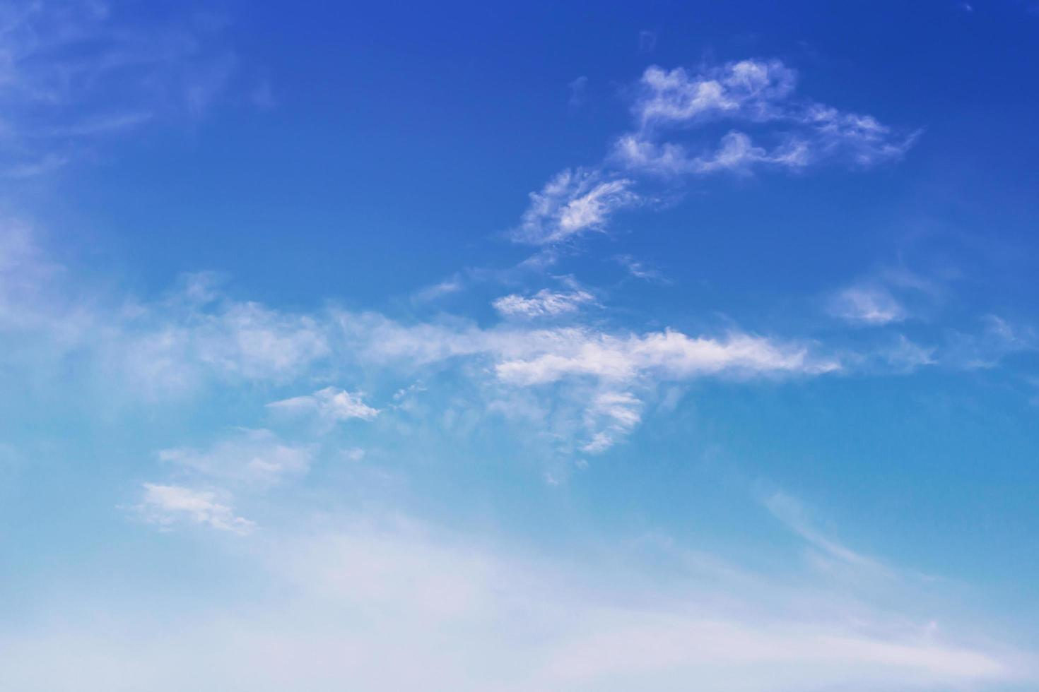 Blue sky with clouds photo