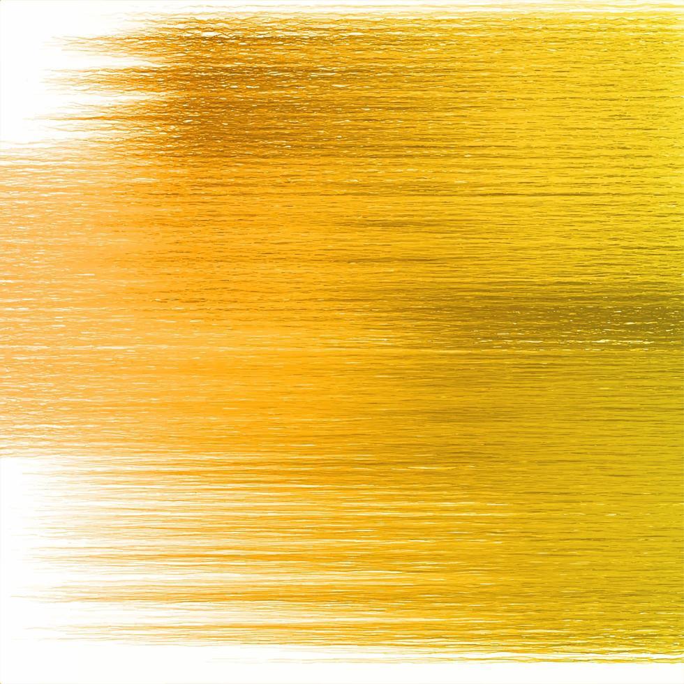 fundo de textura de pincel de pintura abstrato dourado vetor