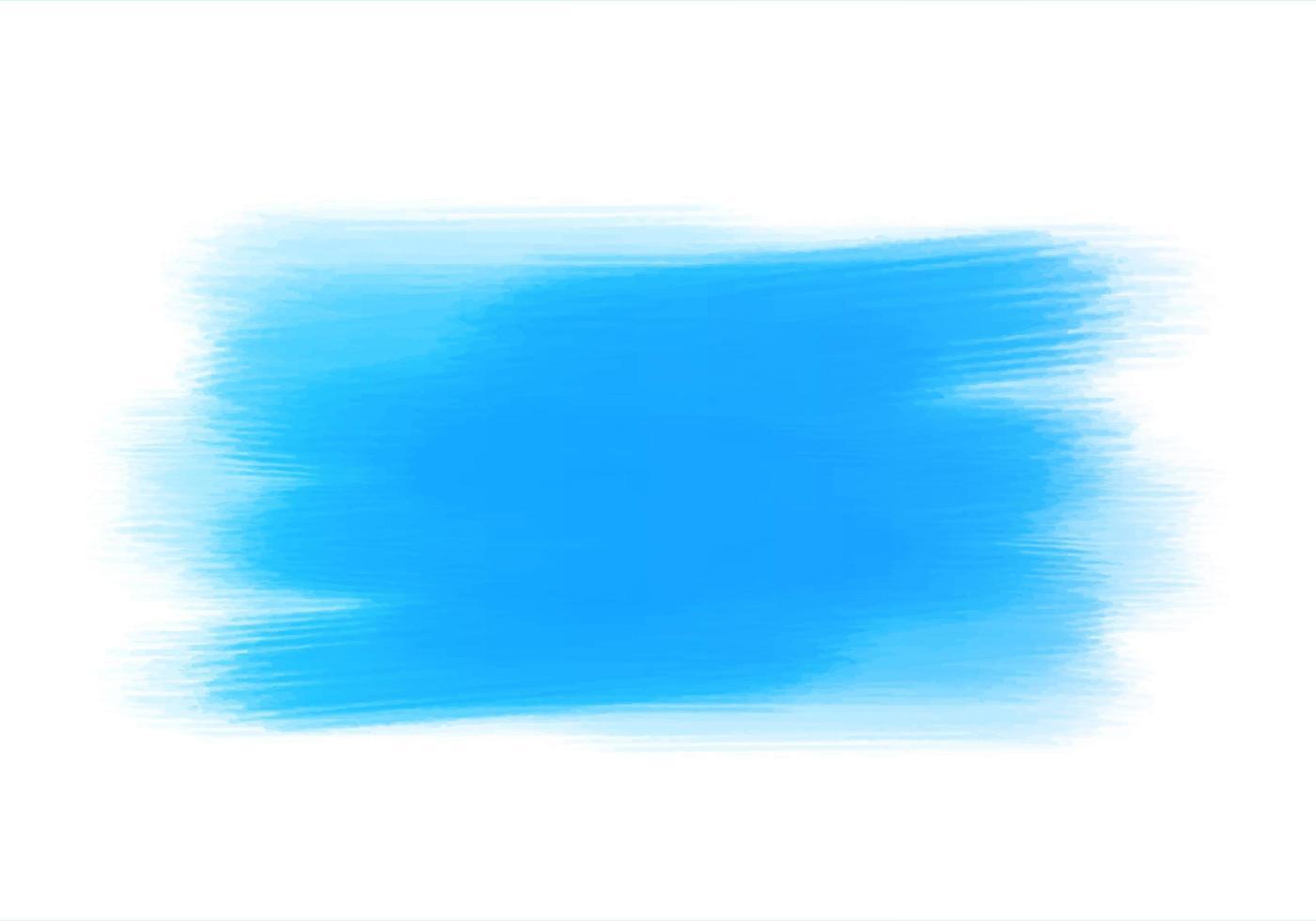 Traçados de tinta escovados em aquarela azul abstrata vetor