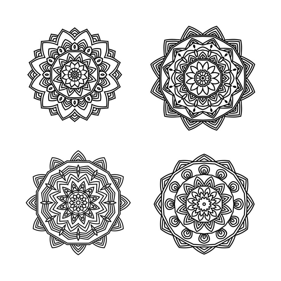 Mandala 4 pack vector