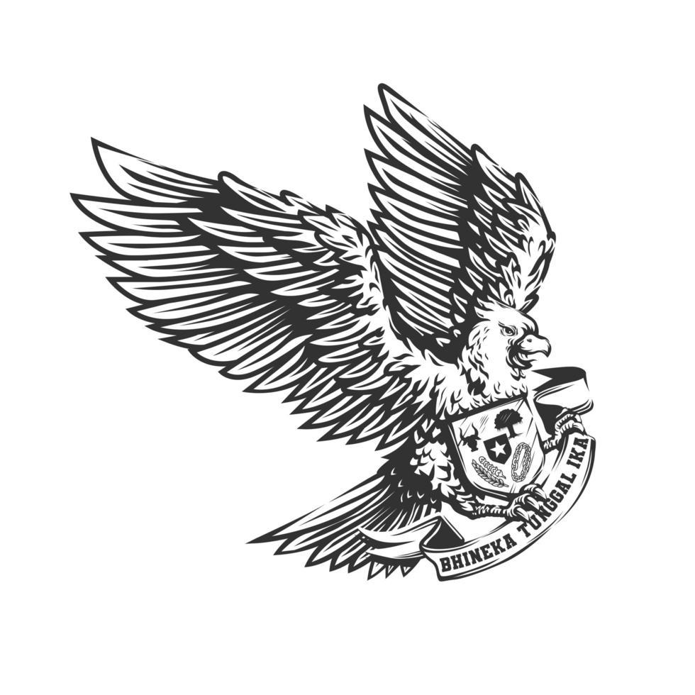 diseño garuda pancasila indonesia vector