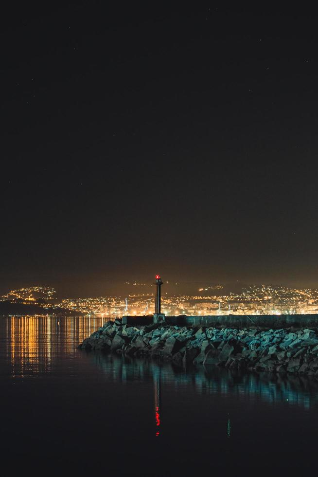 Jetty during the night  photo