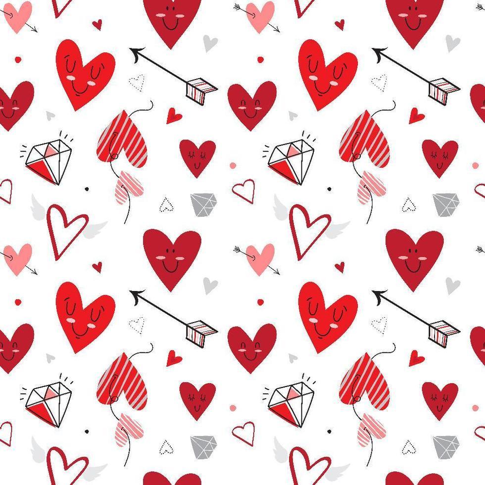 patrón de corazón transparente vector