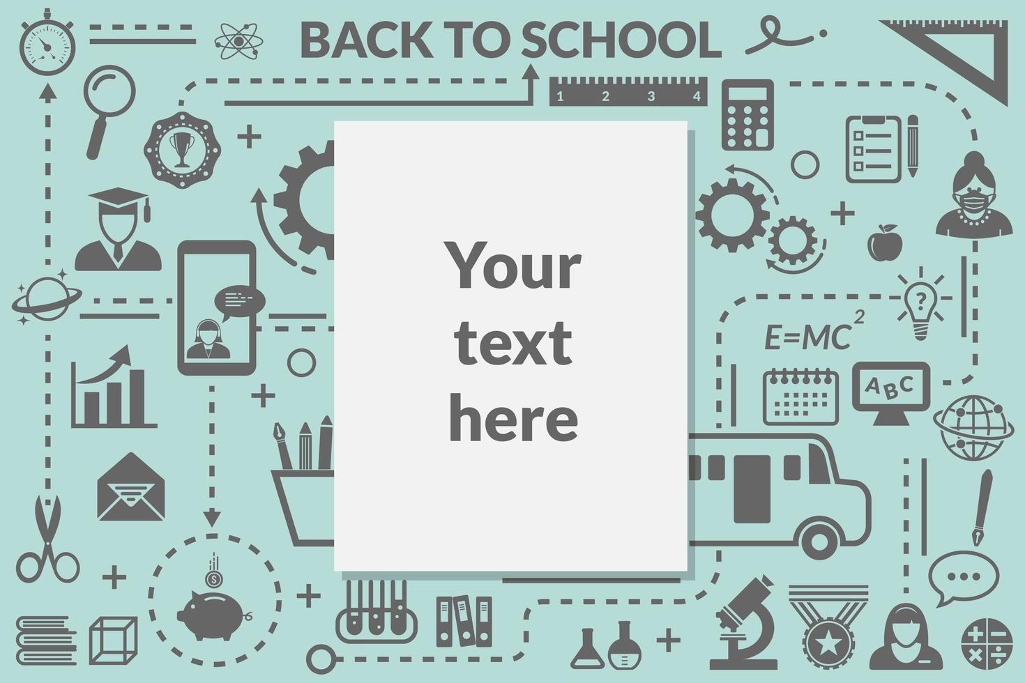 Back to school information board design  vector