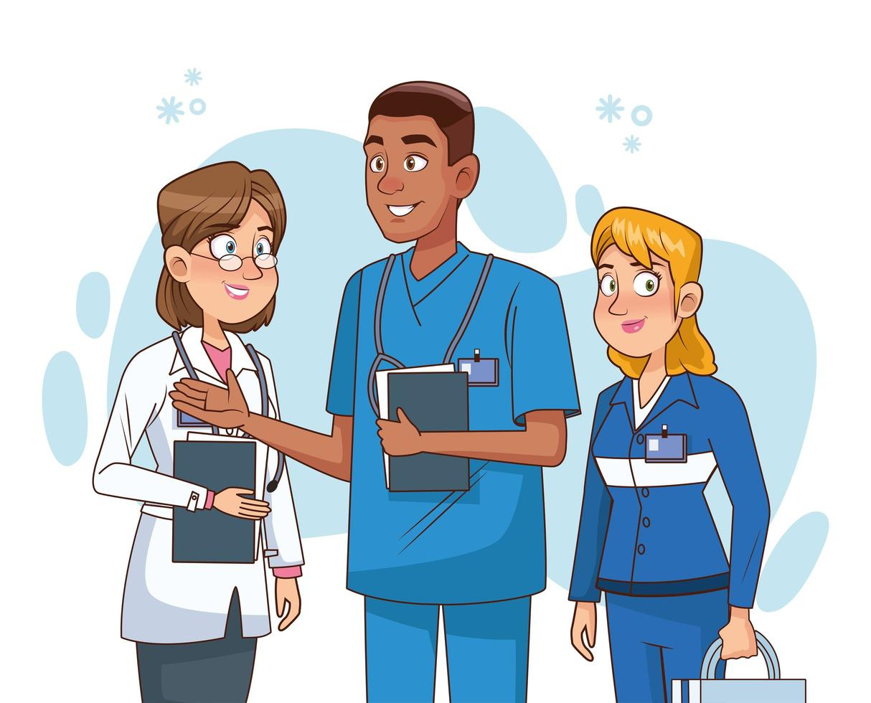 médicos personal profesional personajes vector