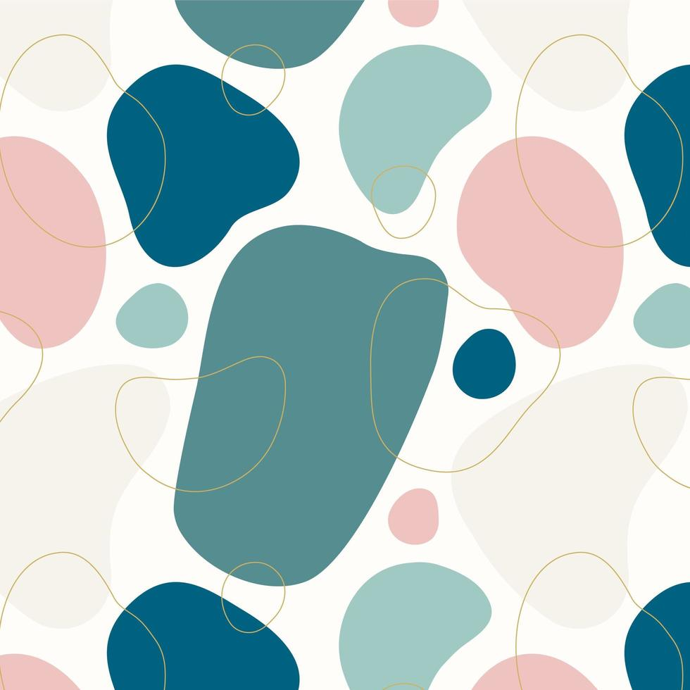 Abstract Organic Shapes Seamless Pattern vector