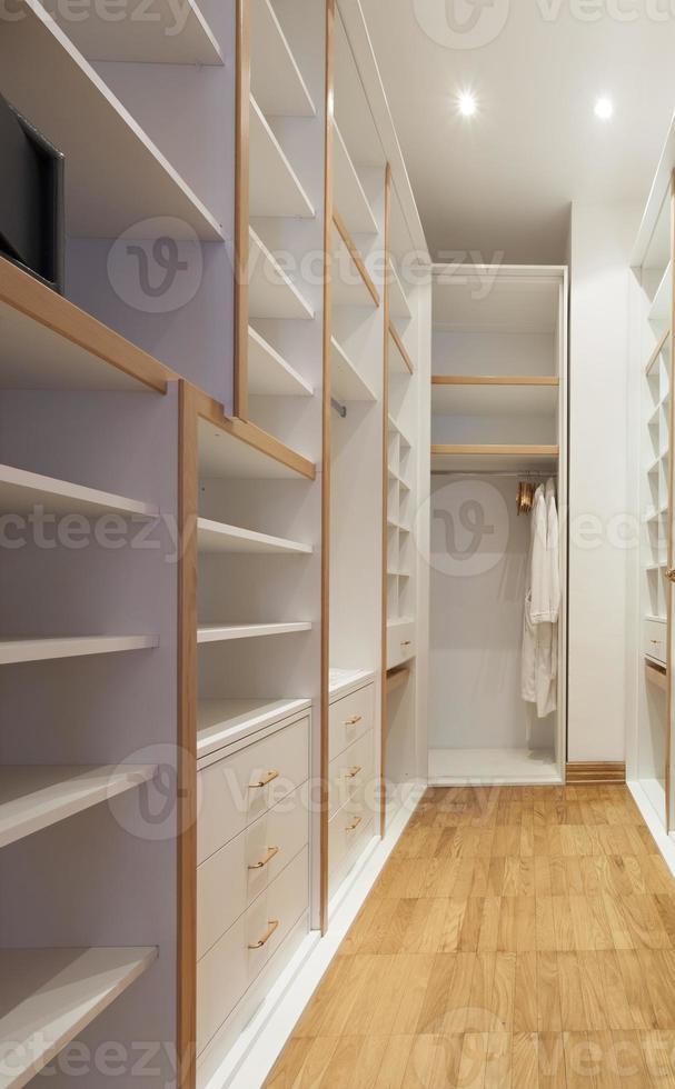 Empty wardrobe room photo