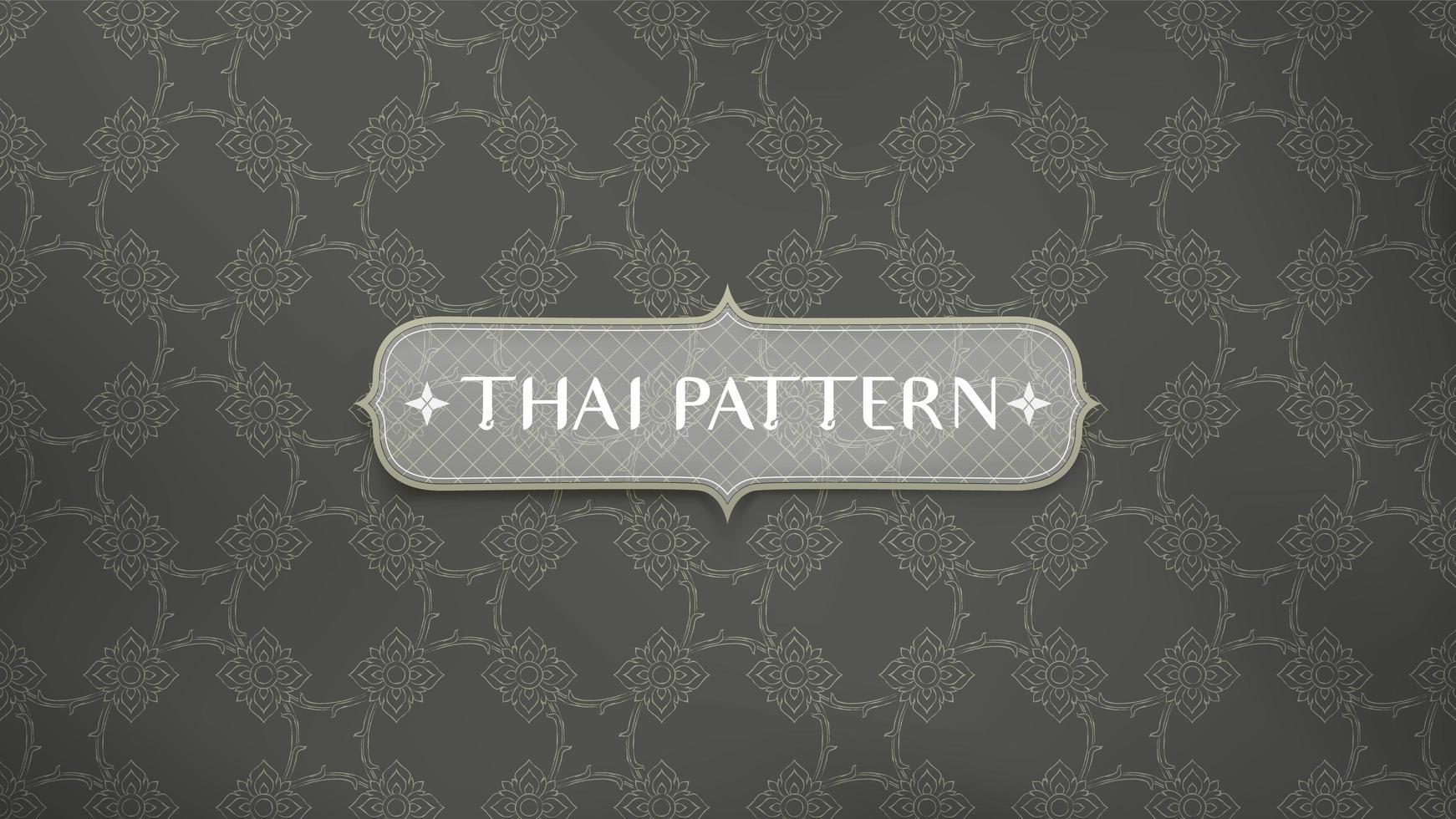patrón tailandés tradicional flor de conexión vector