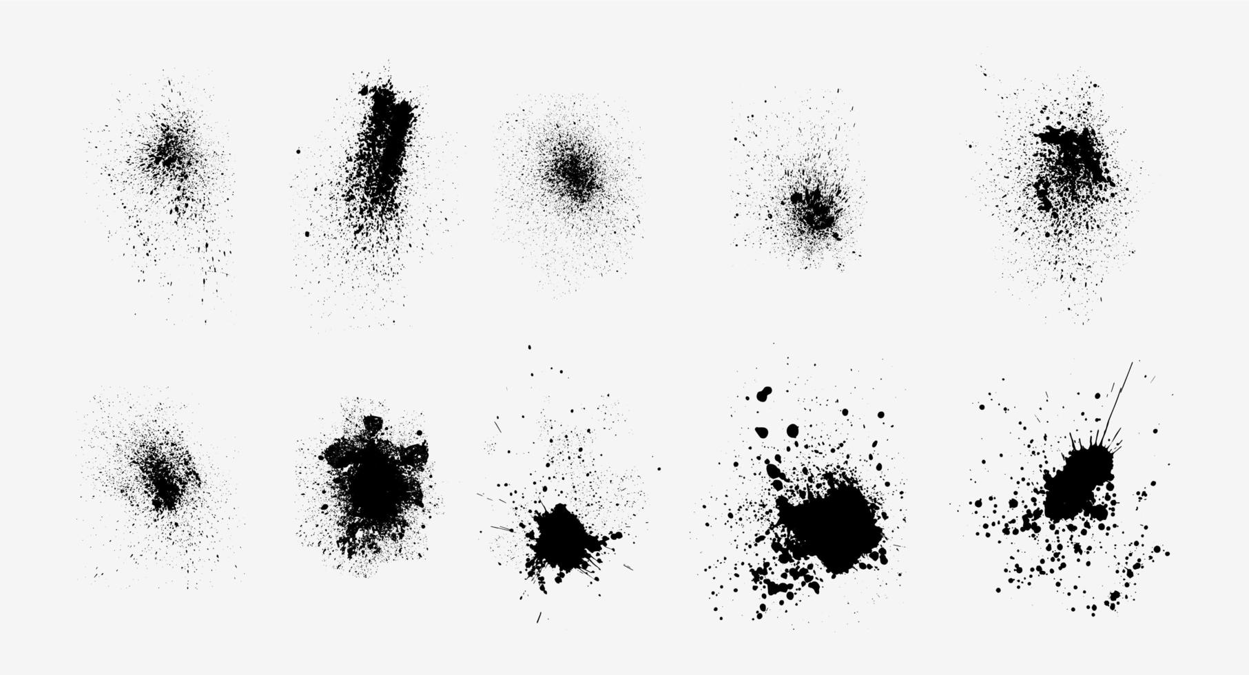 Ink splatter set vector