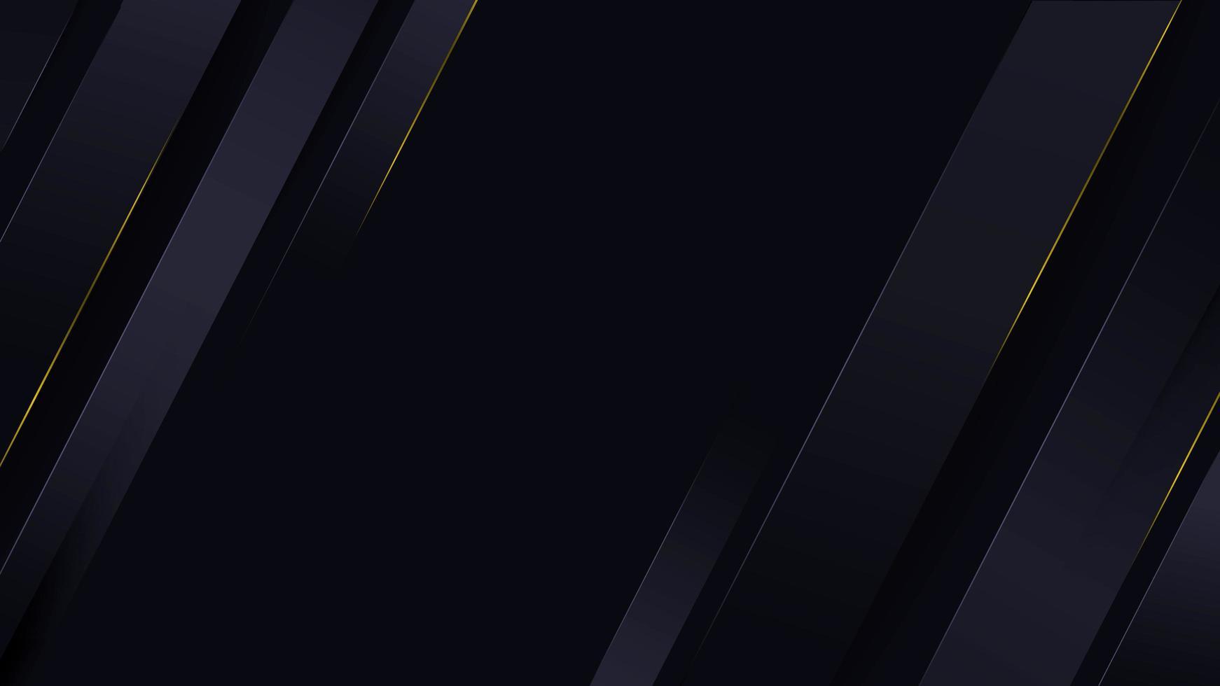 tiras poligonales abstractas en ángulo con líneas doradas vector