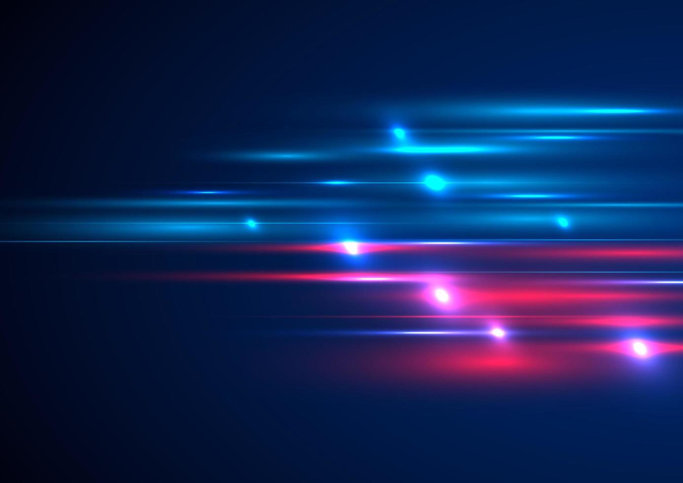 efecto de iluminación de movimiento de velocidad azul y rojo abstracto vector