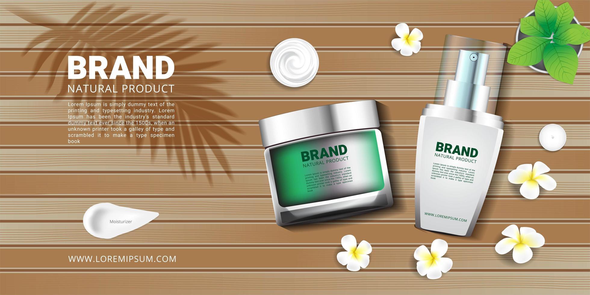 conjunto de productos cosméticos spa vector