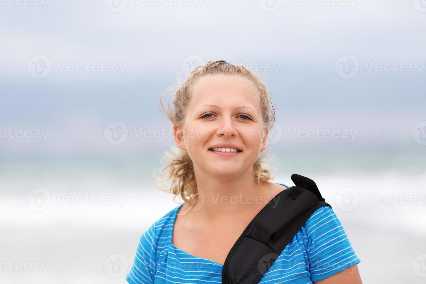 Smiling young woman photo