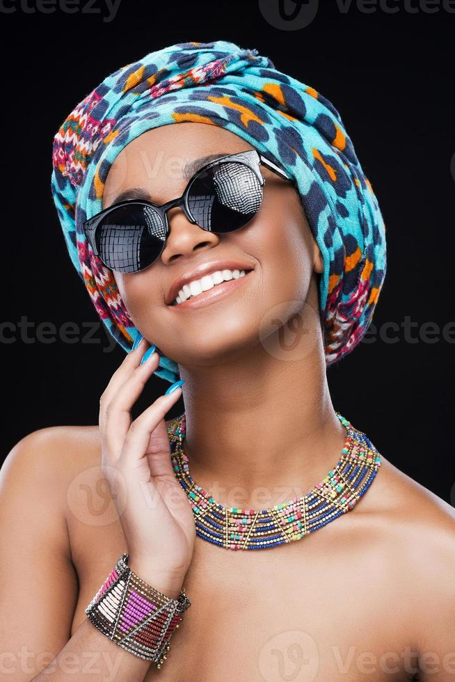 Accessorizes which make her style perfect. photo