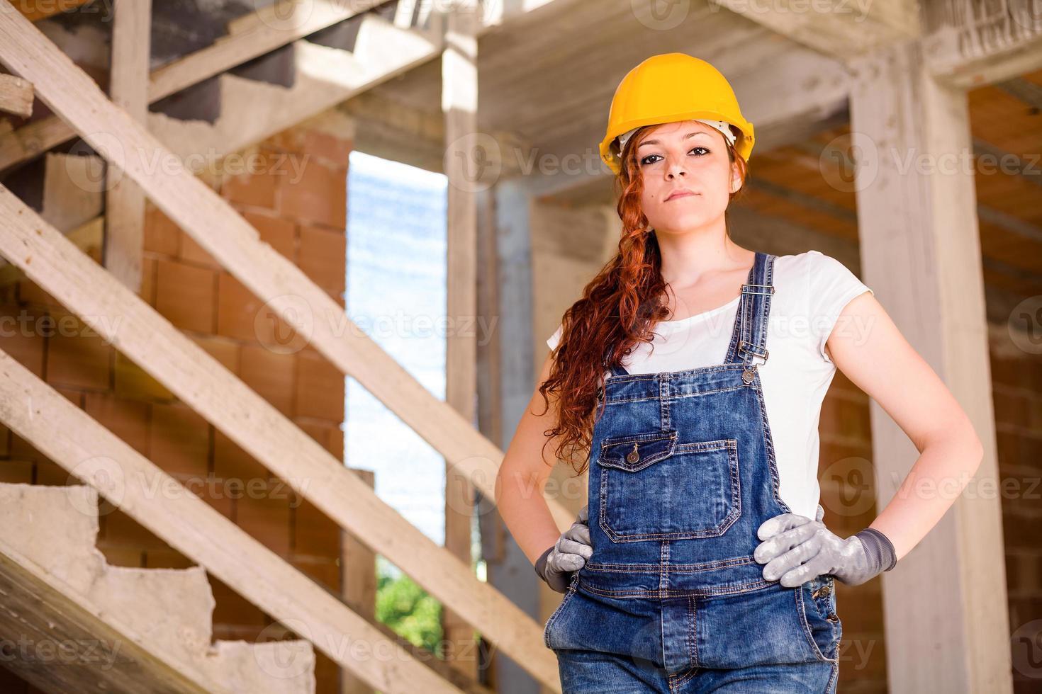 Woman Bricklayer photo