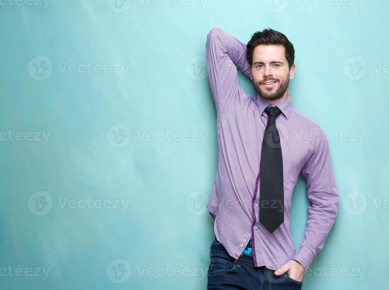 Handsome young business man with necktie photo