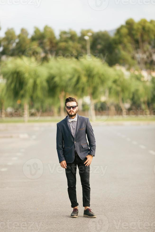 Portrait of young man - Hipster photo