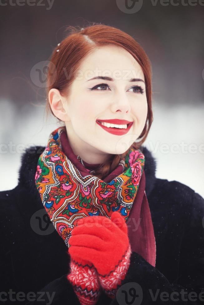 hermosas mujeres pelirrojas en Winter Park. foto