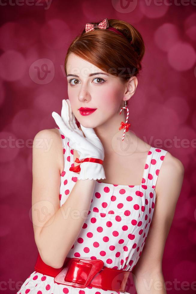 Beautiful redhead women. photo