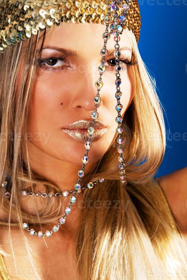 Gorgeous woman with jewelry photo