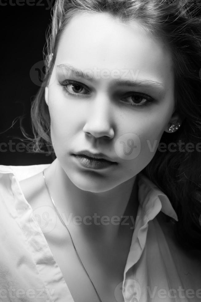 serious woman photo