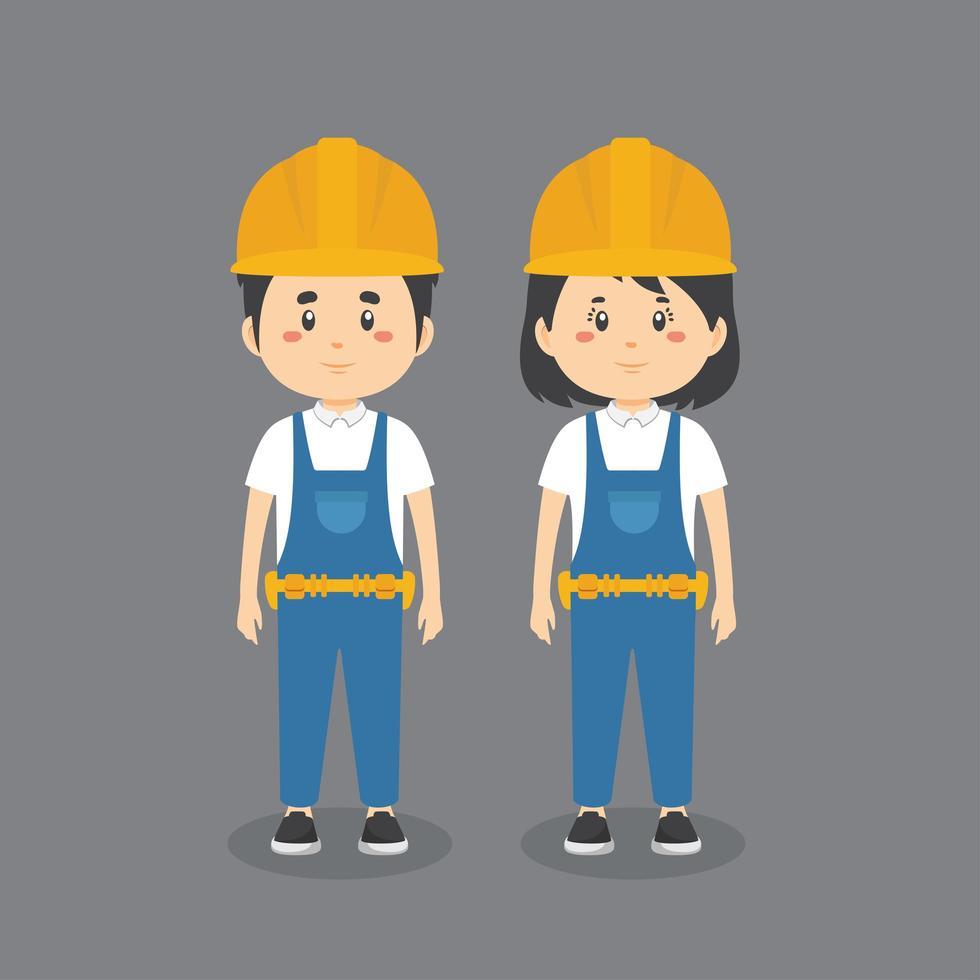 uniforme de los trabajadores de la construcción vector