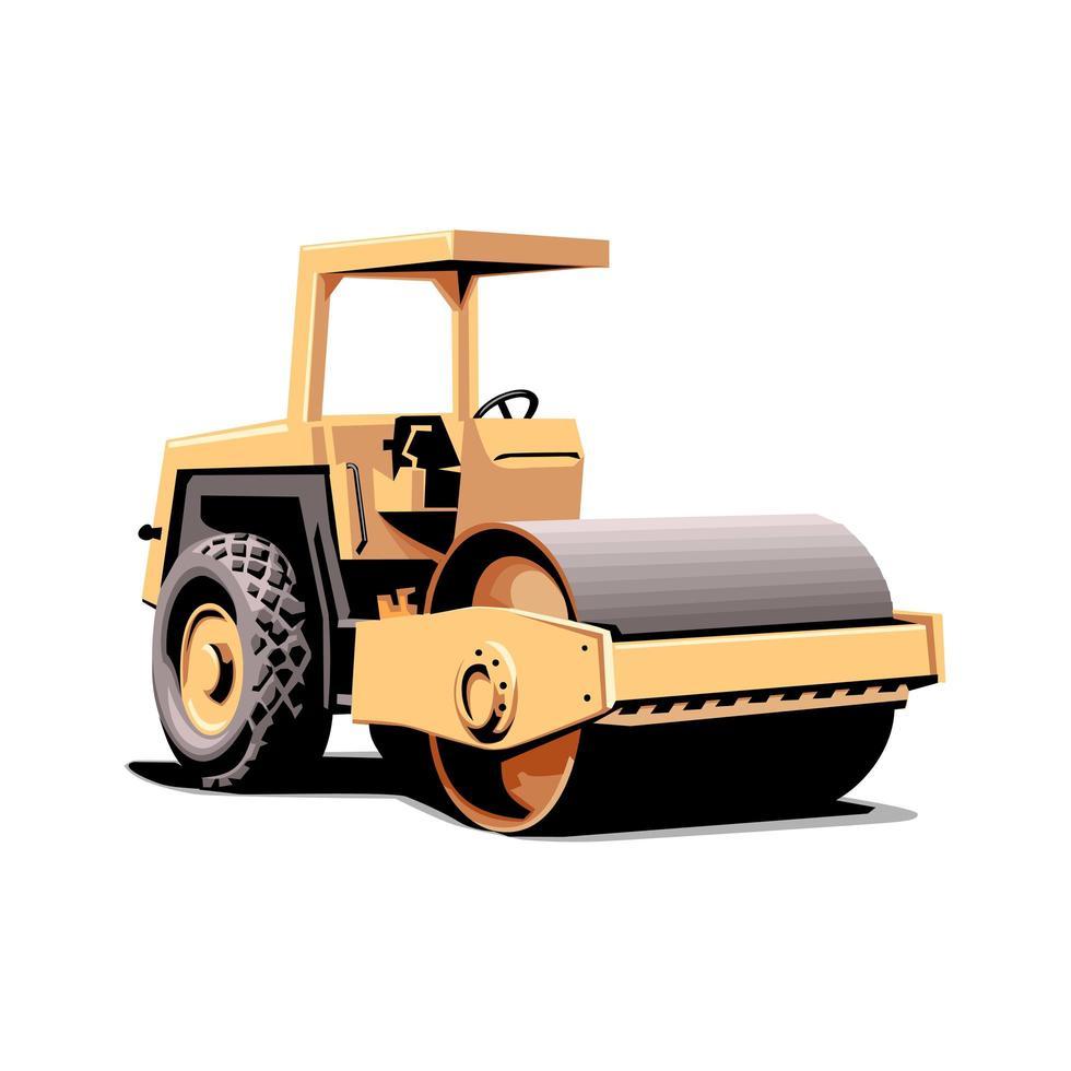 vehículo pesado para la construcción vector