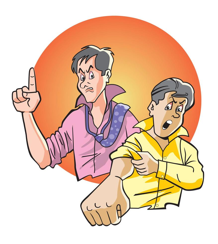 Pair of Angry Men vector